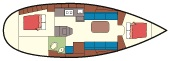 Bavaria 30 Cruiser - Grundriß
