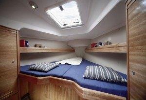 Bavaria 31 Cruiser - vorne eine Kabine mit einem Doppelbett