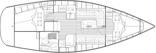 Bavaria 34 Cruiser - Grundriß