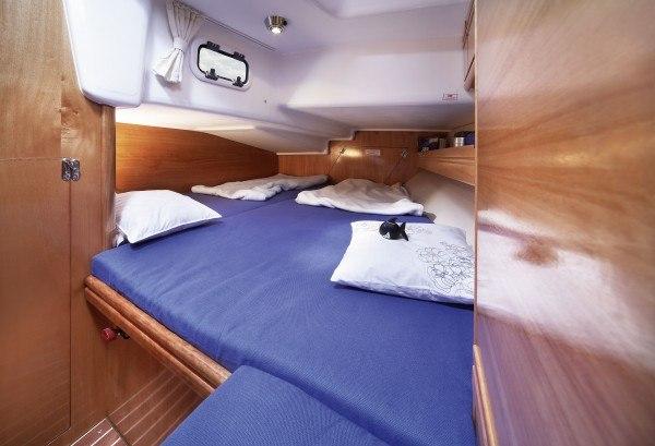 Bavaria 38 - Kabine hinten mit Doppelbett