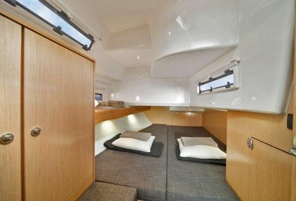 Bavaria 40 (2012) - Kabine hinten mit ein Doppelbett