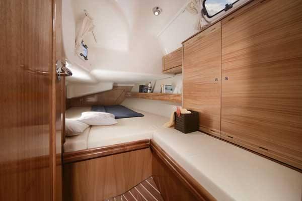 Bavaria 40 - Kabine hinten mit Doppelbett