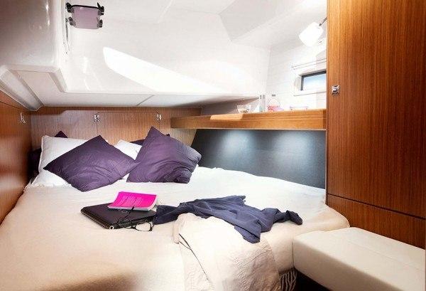 Bavaria 46 - Kabine hinten mit einem Doppelbett