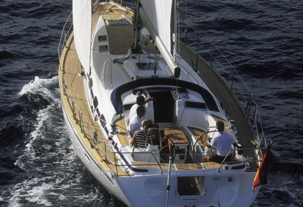 Bavaria 46 Cruiser - Ansicht von hinten im Cockpitt