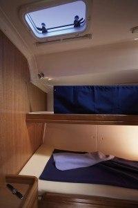 Bavaria 46 Cruiser - Kabine in der Mitte mit Stockbett