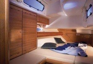 Bavaria 50 - Kabine hinten mit einem Doppelbett