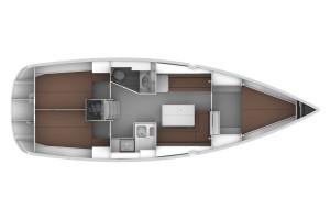Bavaria 36 Cruiser - Grundriß