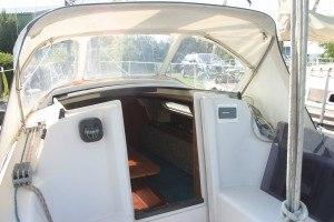 Dehler 25 - Einstieg im Boot