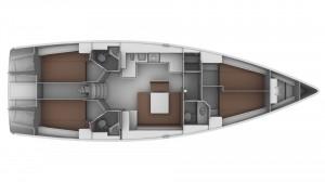 Bavaria 45 Cruiser - Grundriß