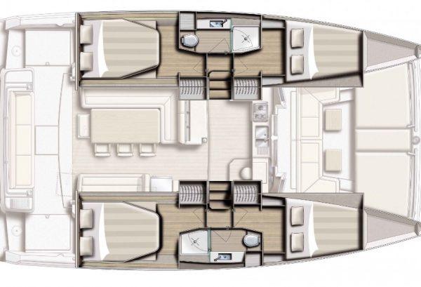 Bali 4.1 Grundriss Unter Deck